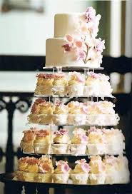 Wedding Cake And Cupcake Combinations Vintage Style Cupcake Tower