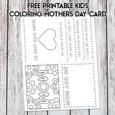 These printable mother's day cards will help you show mom how much you care. Free Printable Kids Mother S Day Card Coloring Page
