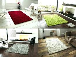rose tufted rug ivory round red 9x12