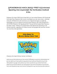 POKEMON GO HACK 2020))]-*FREE*@[(Unlimited Spoofing And Joystick)]@ No  Verification Android & Ios