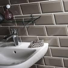 metro dark grey wall tiles 10 x 20cm