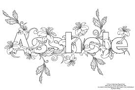 Words Inappropriate Coloring Pages Print Coloring
