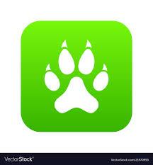 Cat Paw Design Cat Paw Icon Digital Green