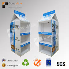 Free Standing Display Board provide Camping Milk Shape display rack free Standing 31