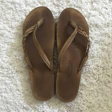 Light Brown Rainbow Sandals Light Brown Rainbow Sandals Size Large Theyre Depop