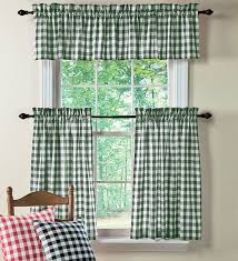 plow and hearth polyester checked gingham curtains and accessories