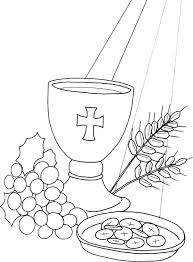 Communion For Kids Coloring Pages Holy 3 Auchmar