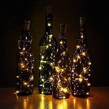 wine lighting. JOJOO Set Of 6 Warm White Wine Bottle Cork Lights - 32inch/ 80cm 15 LED Lighting U