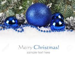Natale confine con il blu e argento decorazioni natalizie e la