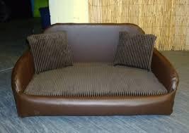 zippy faux leather sofa dog bed large