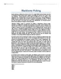 analysis of blackberry picking by seamus heaney themes language  commentary on seamus heaney s amp quot blackberry picking amp quot