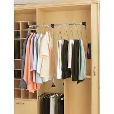 Portable Closet Rod Surprising Closet Valet Rod Lowes Roselawnlutheran
