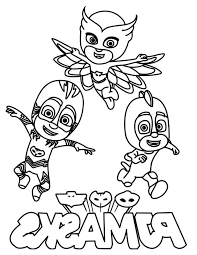 Pj Masks Coloring Pages Printable Collection Colo Jadoxuvaletop