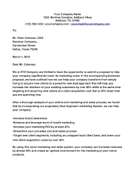 10 Sales And Marketing Cover Letters Proposal Sample