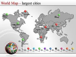 Editable World Map For Powerpoint World Map Powerpoint Editable World Map World Map Ppt Template