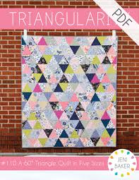 Triangularity Quilt PDF Pattern | Pattern cutting, Triangles and ... & Learn to sew with equilateral triangles in this fun, modern quilt pattern.  Cut triangles Adamdwight.com
