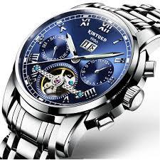 popular automatic swiss watches buy cheap automatic swiss watches luxury swiss brand watches kinyued men automatic mechanical watch steel bracelet skeleton flying design j014