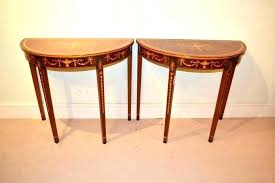 side tables half moon bedside table storage console with home desi