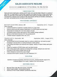 Retail Sales Associate Resume Sample Lovely Sales Associate Resume