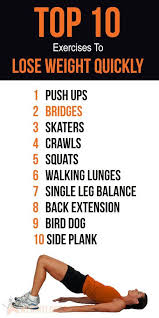 top 10 home exercises to lose weight quickly weight loss