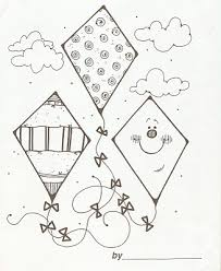 Small Picture coloring page of kites Google Search coloring book Pinterest