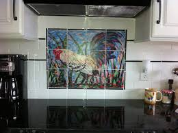 ecclectic country rooster kitchen backsplash idea