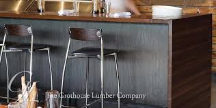 stained wood countertops