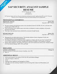 Security Analyst Resume Amazing Sap Security Resume Cover Letter Samples Cover Letter Samples