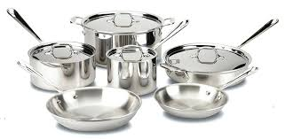 all clad vs cookware cuisinart professional series stainless contour 13 piece steel set silver transpa