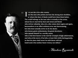 The Man In The Arena Theodore Roosevelt Motivation Mentalist