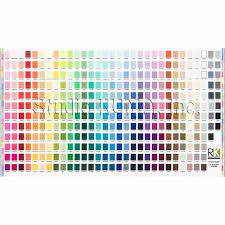 New 365 Colors Robert Kaufman Kona Solid Printed Color Chart Cotton Fabric By The Panel