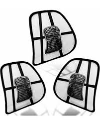 Get the Deal: Zento Deals Black Lumbar Support Mesh Hollow \u2013 3 Pack Car Auto Chair Seat Back Muscle Cushion Home Office Waist Indoor Outdoor
