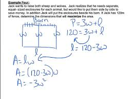 completing the square word problems 2