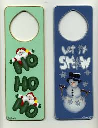 Decorative Door Hangers Christmashand Painted Ornamentslee Wismerdecorative Painting