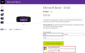 Microsoft Band 2 Size Chart Microsoft Band Out Of Stock Online Until Early 2015