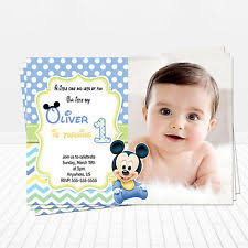baby mickey mouse invitations birthday mickey mouse birthday child greeting cards ebay