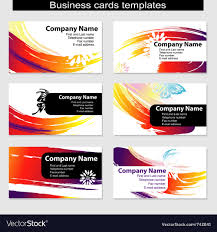 cards templates business cards templates royalty free vector image