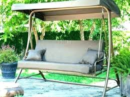 patio swing bed with canopy set and wooden outdoor shade for