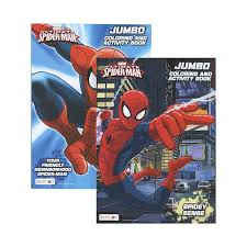 Free printable spiderman coloring pages for kids. 36 Of Ultimate Spiderman Jumbo Coloring Activity Book At Wholesalecaseprice Com