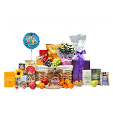 flowers to say birthday gift basket