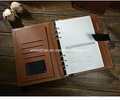 china business a5 leather cover 6 ring binder notebook china leather notebook leather journal