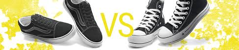 converse vs vans. the fashion-conscious person, rockabilly-fashionista and all other shoe-lovers will now suggest at least two brands: converse vans, vs vans