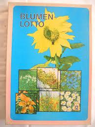 Blumenlotto Ddr 1978 Ostalgie Dachbodenfund Spiel Pflanzen