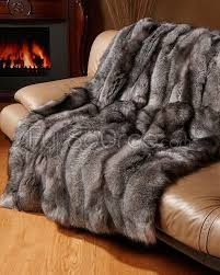 Silver Fox Throw Blanket