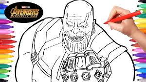 Avengers Infinity War Thanos Drawing And Coloring Thanos Marvel