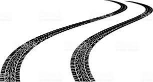 tire skid marks vector. Delighful Marks Curved Tire Tracks Vector Art Illustration On Tire Skid Marks Vector N