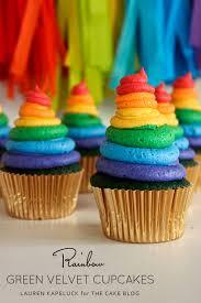 colorful cupcakes. Modren Cupcakes Rainbow U0026 Green Velvet Hi Hat Cupcakes  By Lauren Kapeluck For  TheCakeBlogcom Intended Colorful E