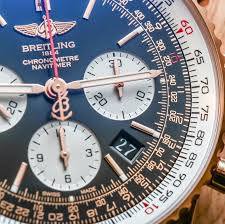 breitling navitimer 01 gold watch