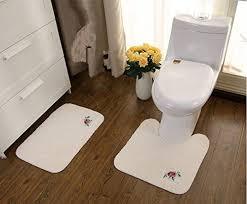 ustide 2 piece bathroom rug contour toilet rug bathroom mat fashion design