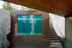 basement pool glass. Unique Basement This See Through Swimming Pool By DAP Architects Appears To Be An Extension  Of The Natural Landscape To Basement Pool Glass